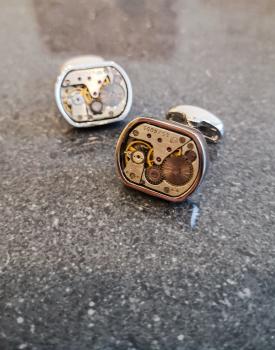 Aproču pogas sudraba krāsā - kantainas
