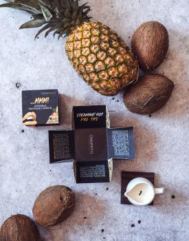 Aromātiska masāžas svece - ananass un kokosrieksts