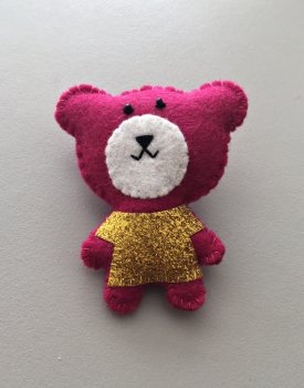 "Brooch ""Disco bear"""
