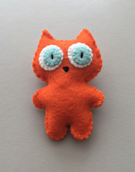 "Brooch ""Orange cat"""