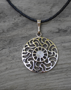 "Bronze necklace ""Sun"" big"
