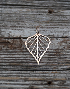 "Bronze pendant ""Birch"" large"