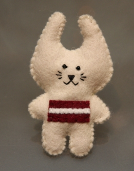 "Felt brooch ""Bunny"" vanilla colour"
