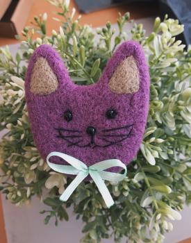 """Broša """"Lillā Kaķis"""" filca"""