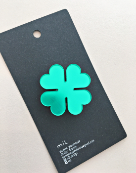 "Brooch ""Four page clover"""