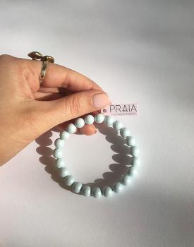 Swarovski pērļu rokassprādze - gaiši zila