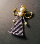 Pērļu eņģelītis - gaiši lillā
