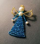 Pērļu eņģelītis - koši zils