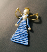 Pērļu eņģelītis - gaiši zils